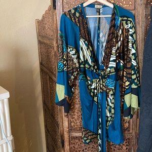 Like New Issa London Printed Long Sleeve Dress 6